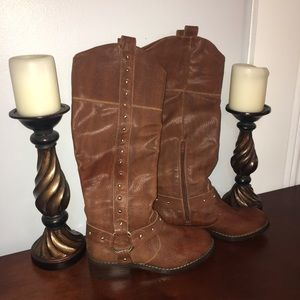 INC Tall Leather Boots